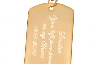 Engraved Gold , 6 Unique Engraved Picture Dog Tags In Dog Category