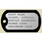 Genuine Military Engraved Dog Tags , 8 Fabulous Pictures Of Military Dog Tags In Dog Category