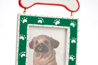 Green Dog Bone Picture Frame in Birds