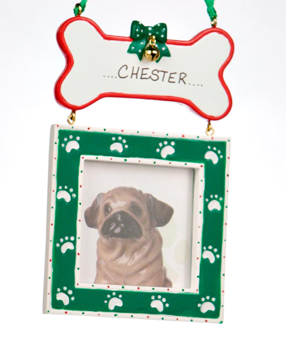 Green Dog Bone Picture Frame