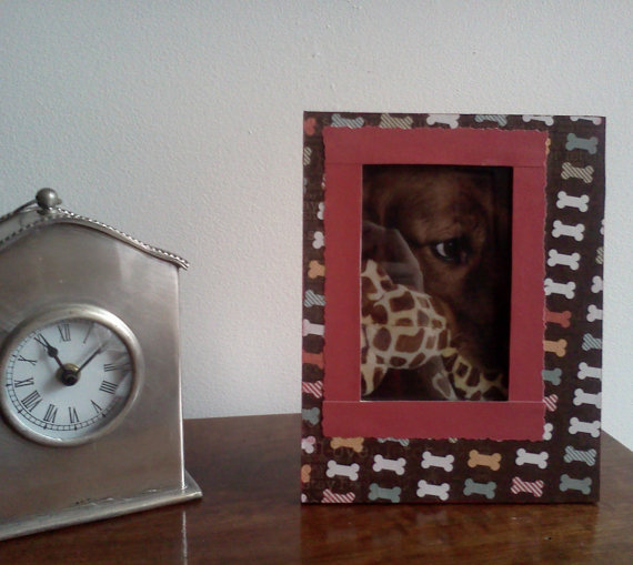 Dog , 4 Gorgeous Dog Themed Picture Frames : Hand Decorated Picture Frame