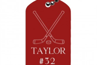 Hockey Gifts , 6 Unique Engraved Picture Dog Tags In Dog Category