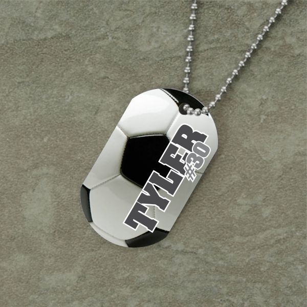 Dog , 7 Unique Customized Dog Tags With Pictures : Personalized Soccer Dog Tag