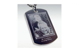 Photo Engraved Stainless , 6 Unique Engraved Picture Dog Tags In Dog Category