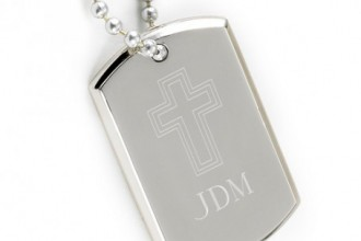 Small Inspirational Dog Tag in pisces