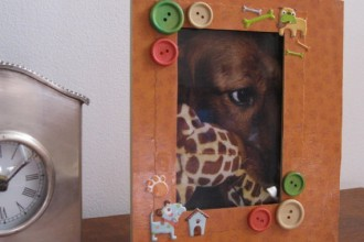 Themed Hand Decorated Picture in Dog