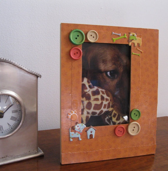 Dog , 4 Gorgeous Dog Themed Picture Frames : Themed Hand Decorated Picture