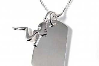 Trucker Girl Dog Tag Sterling Silver , 7 Gorgeous Dog Tag Picture Engraving In Dog Category