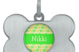 Yellow Flowers Personalized Dog Tag , 8 Amazing Personalized Dog Tags With Pictures In Dog Category