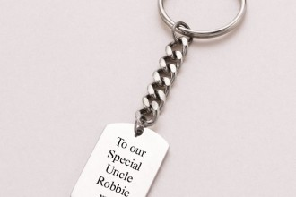 engraved dog tag key in Laboratory